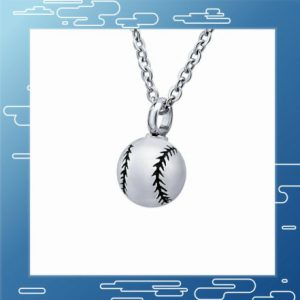baseball necklace with round charm