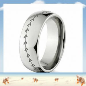 titanium baseball ring all silver