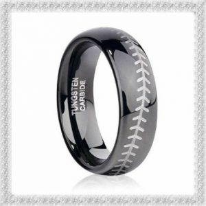 tungsten carbide black baseball ring