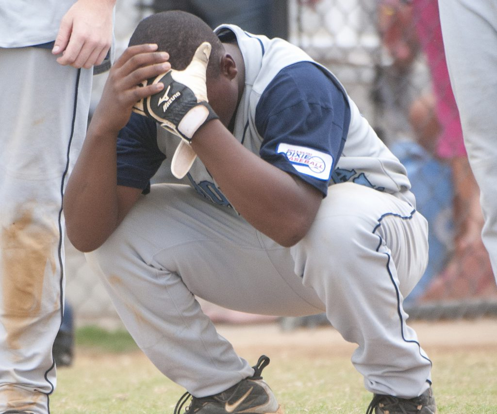 crying baseball player