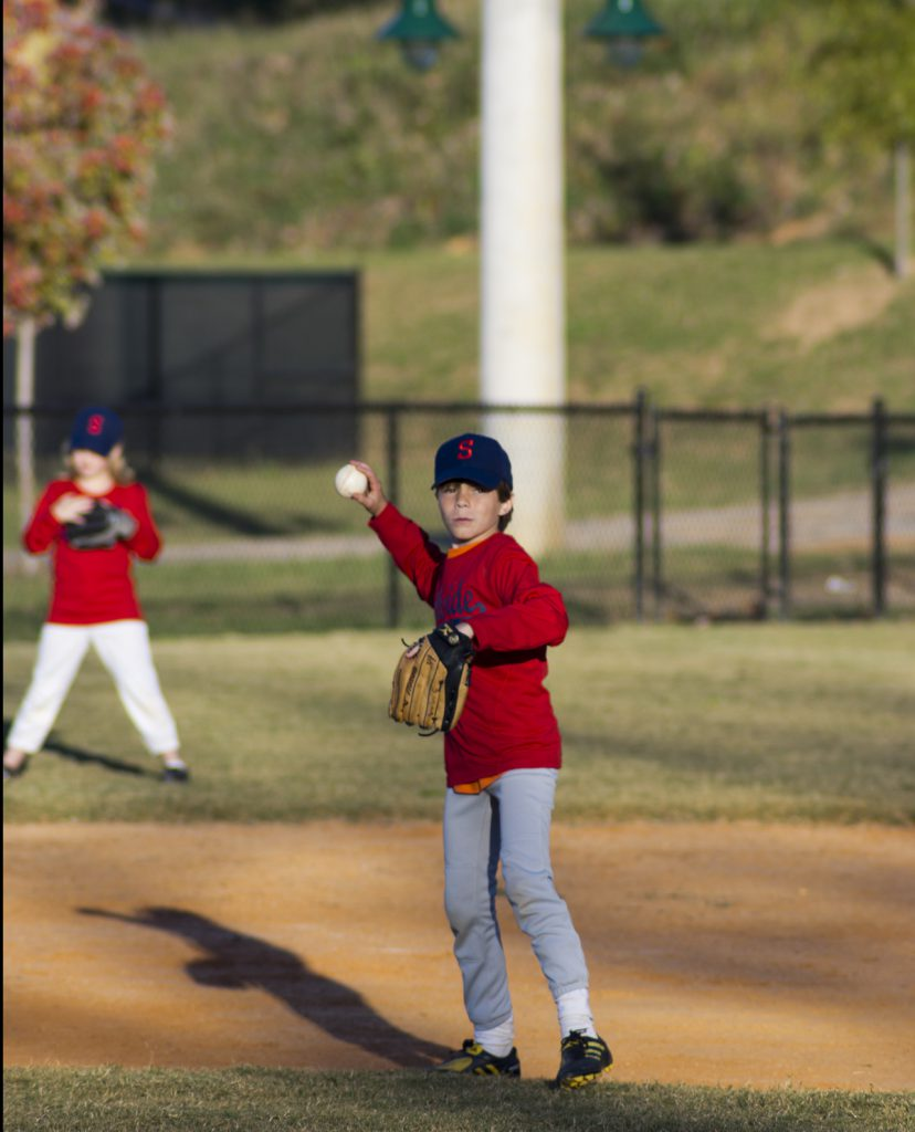 playing fall baseball