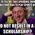 baseball Scholarship Meme