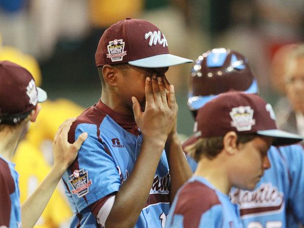 baseball player crying