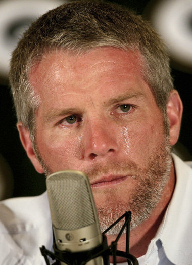 brett favre crying