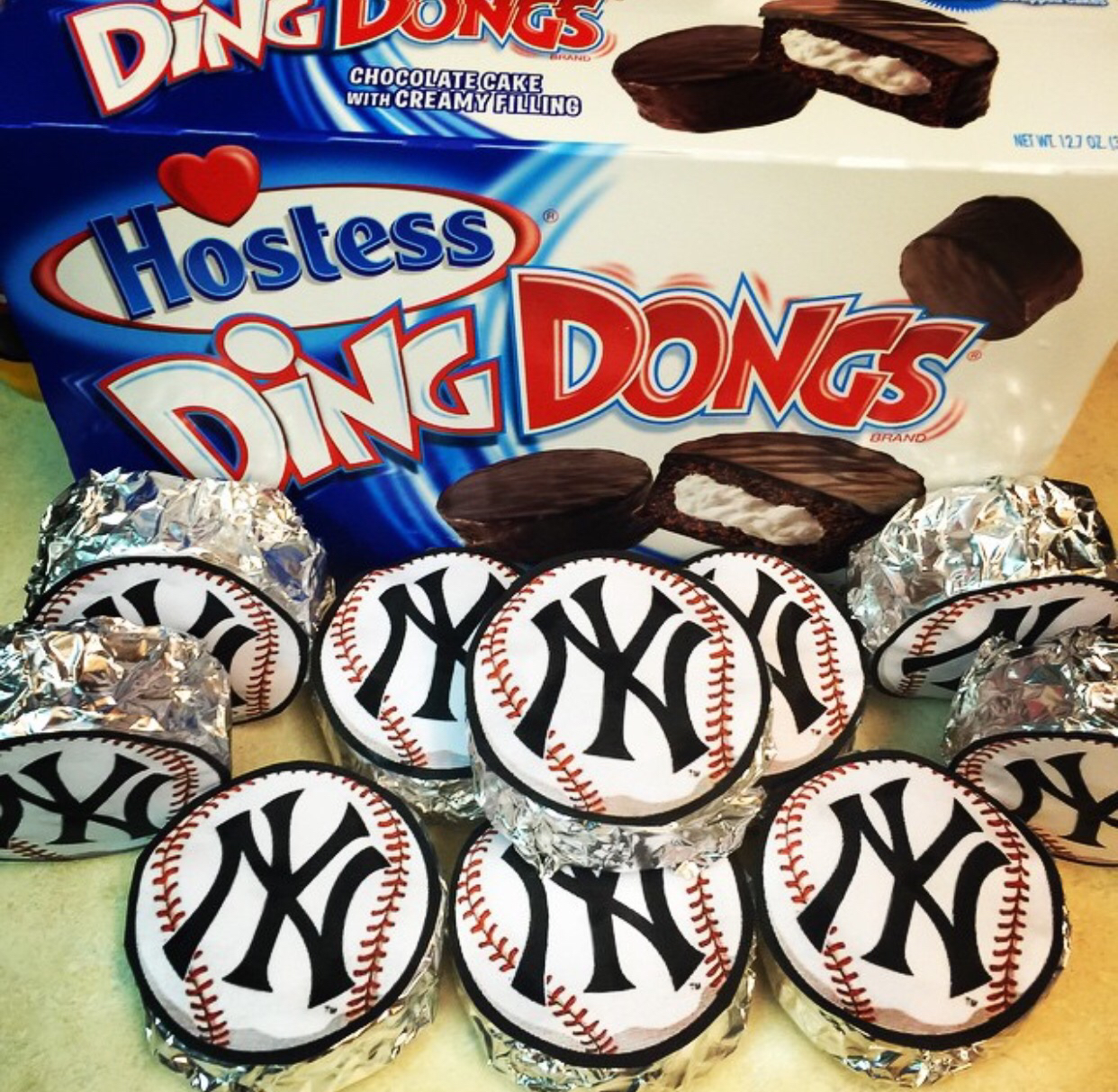 ding dong baseball treats