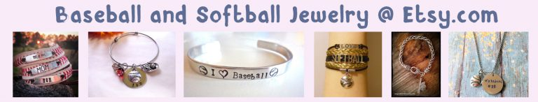 etsy baseball jewelry banner light pink