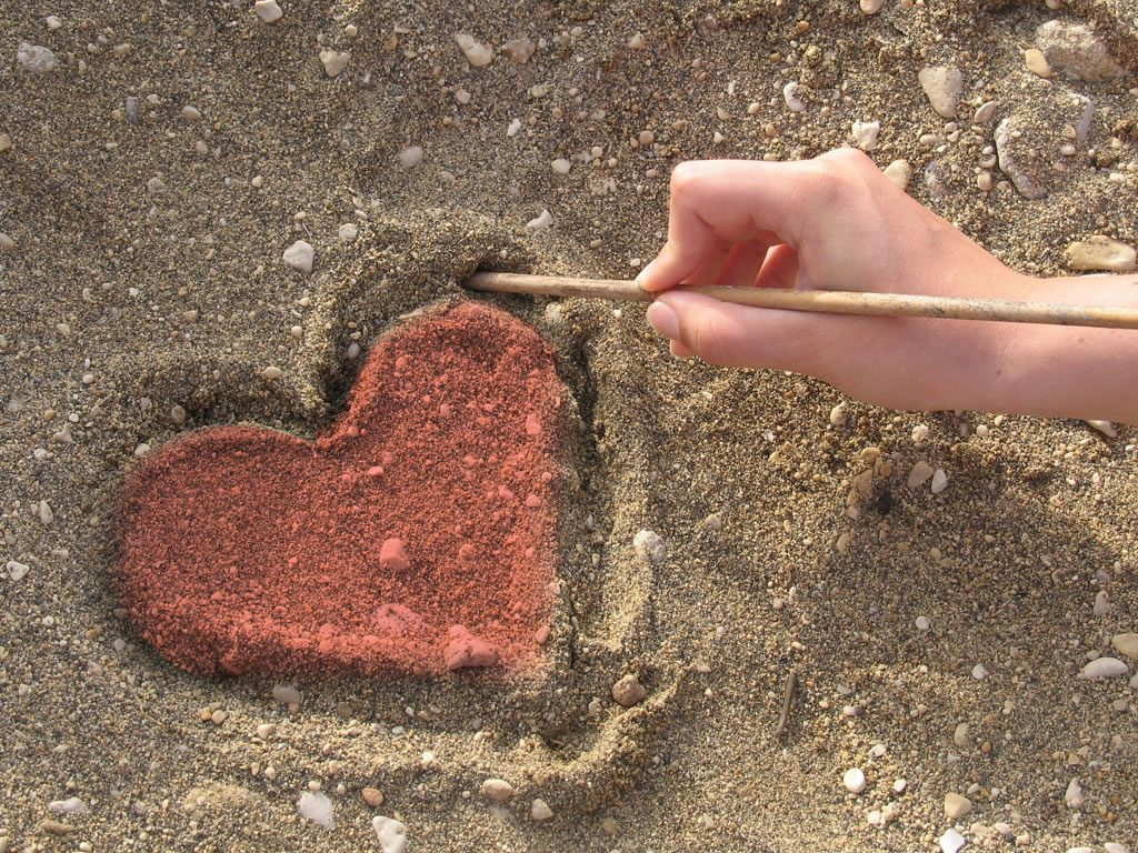 heart in dirt