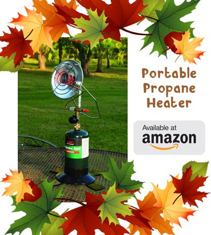 portable propane heater banner