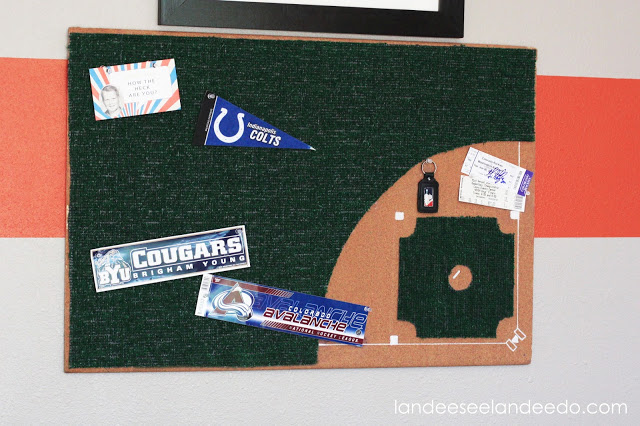 baseball diamond bulletin board