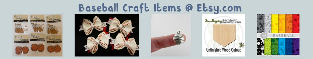 etsy baseball crafts items banner