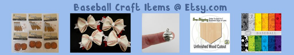etsy baseball crafts items banner blue