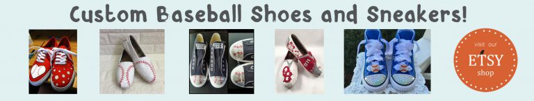 etsy custom baseball shoes banner light blue