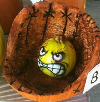 pumpkin softball glove