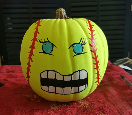 softball pumpkin