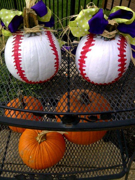 white baseball pumpkins