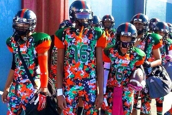 camo football uniforms