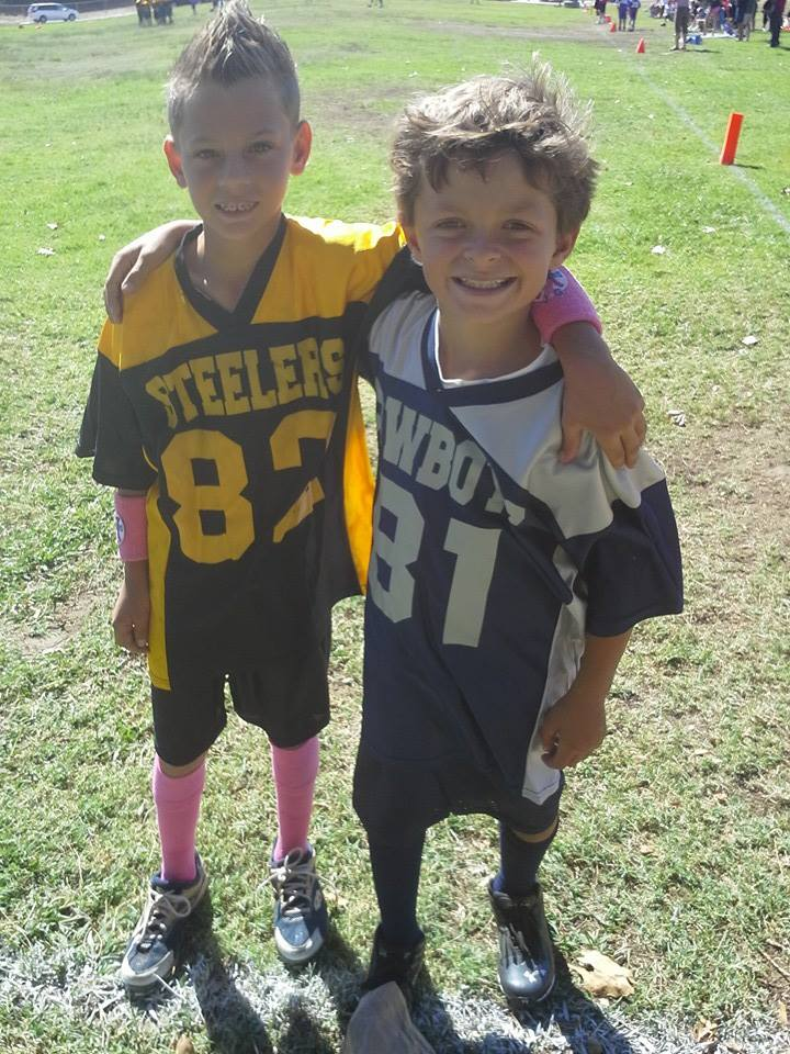 drew and brandon at football