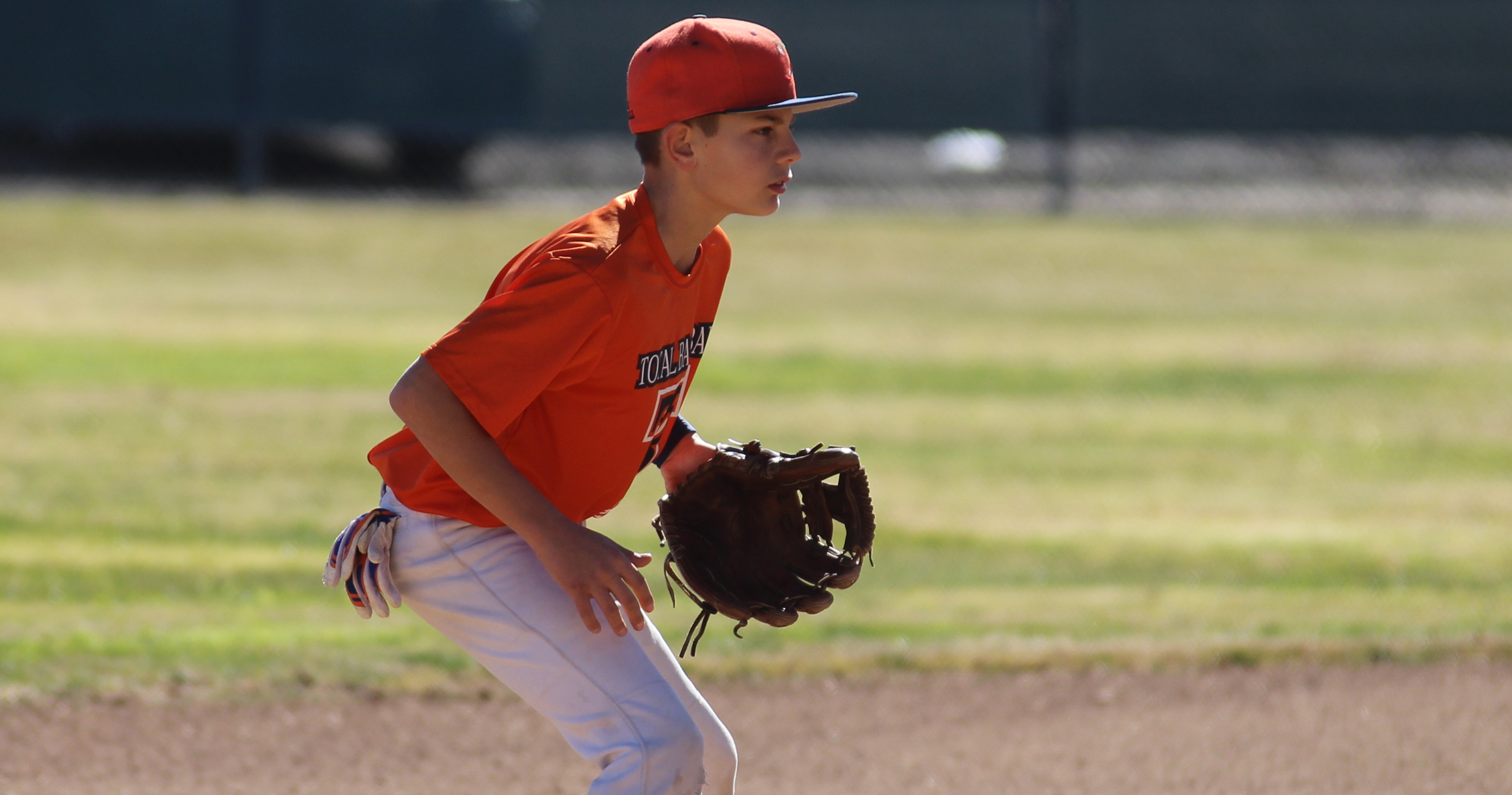 baseball infielder focusing