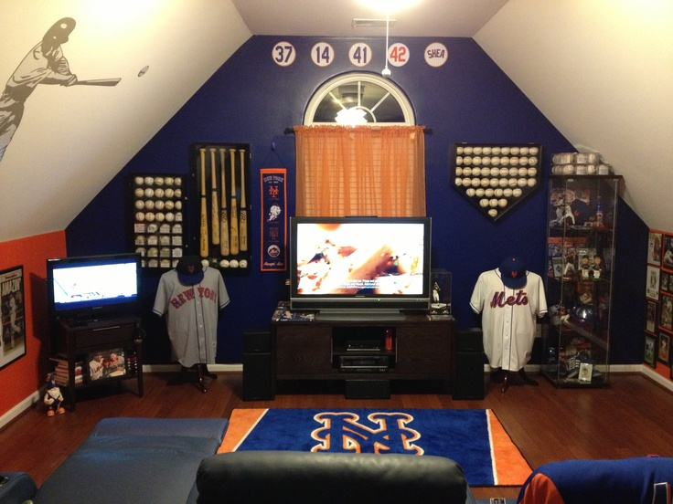 baseball attic mancave