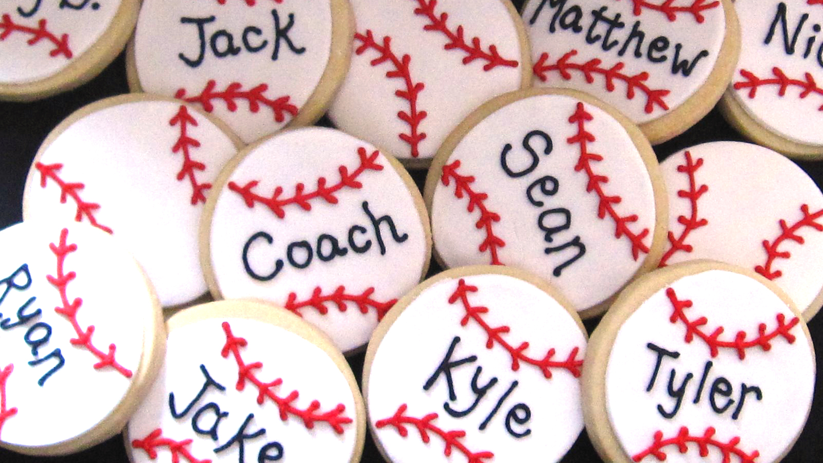 baseball cookies with names landscape lightened