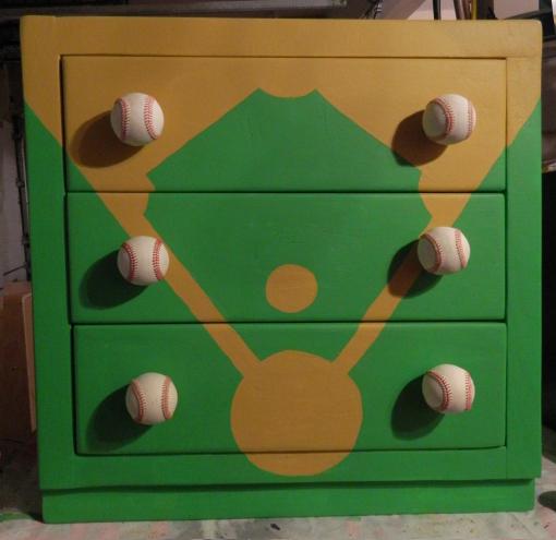 baseball diamond dresser