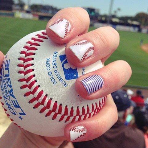 baseball fingernails with ball