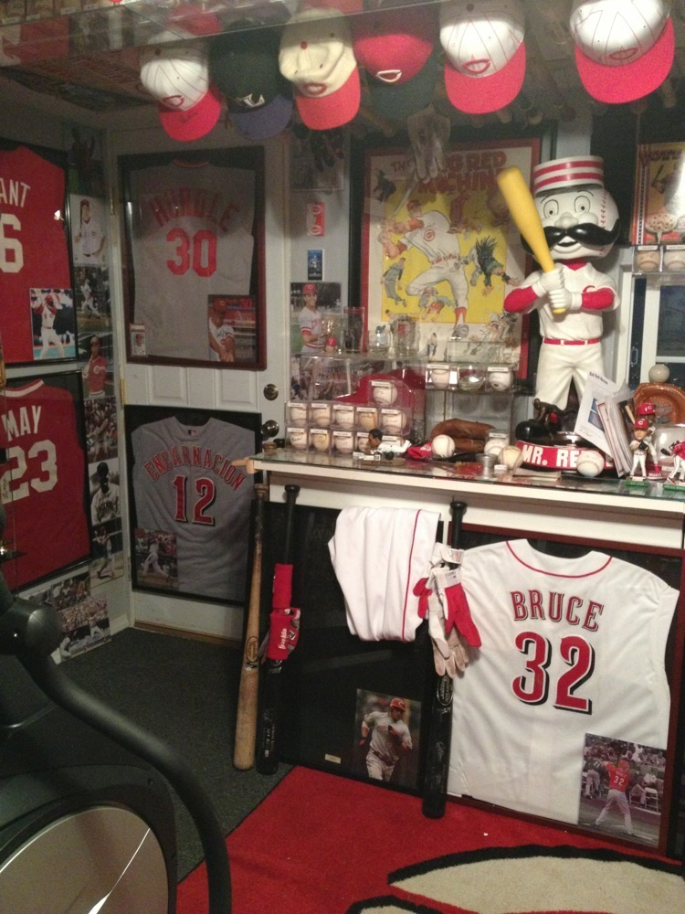 baseball garage mancave