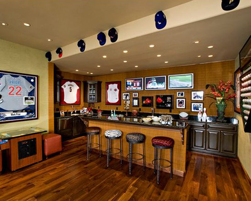 baseball mancave bar