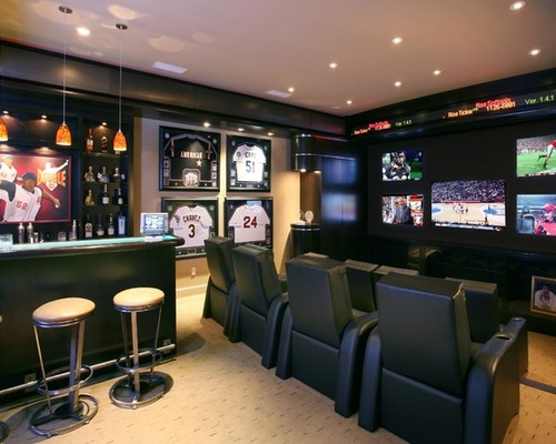 baseball mancave theater