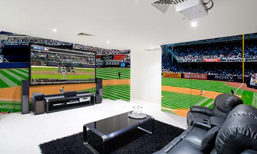 Baseball Wall Image Mancave