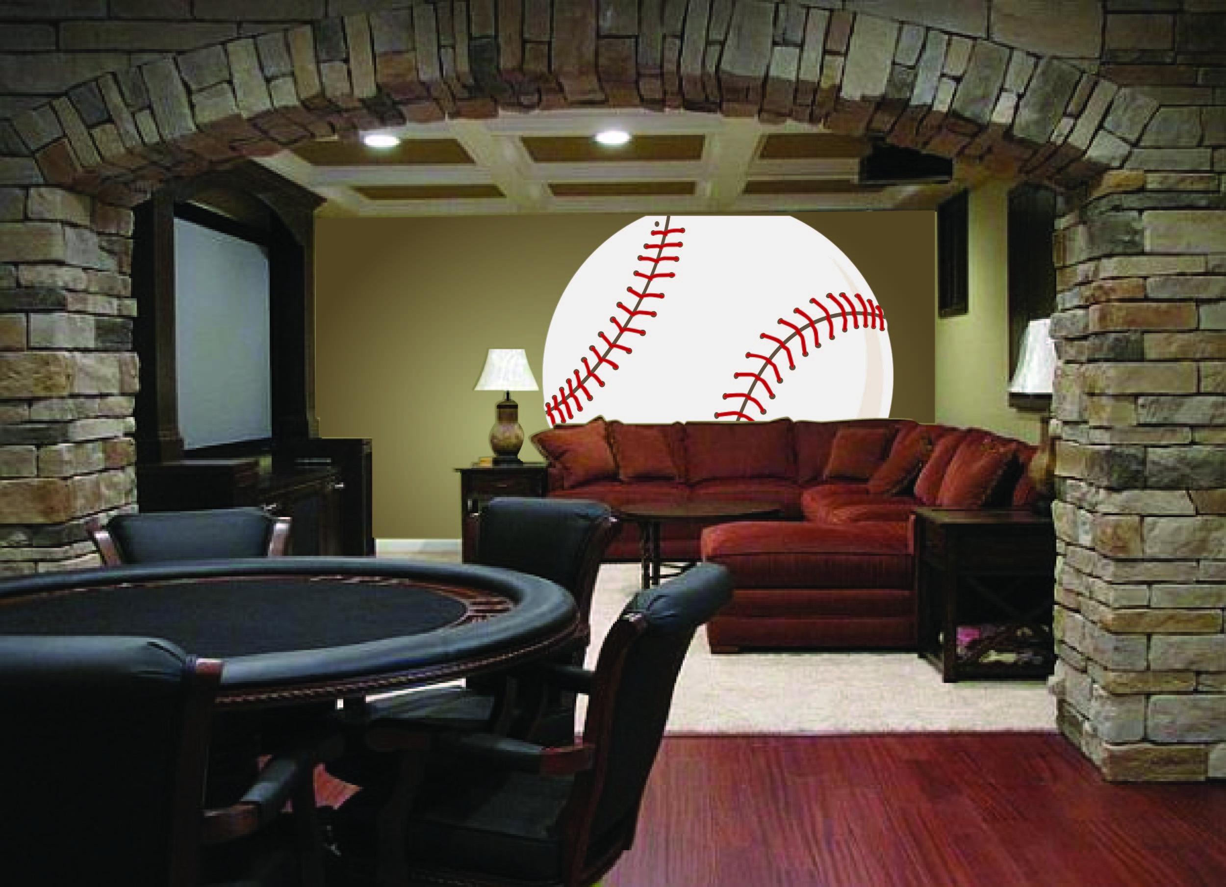 Baseball Wall Mural Mancave