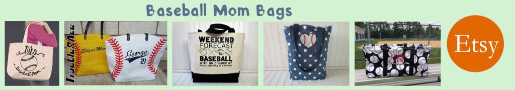 etsy baseball mom bags banner
