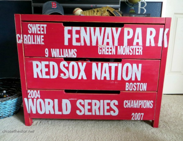 red sox dresser