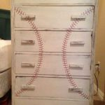 simple baseball dresser with threads