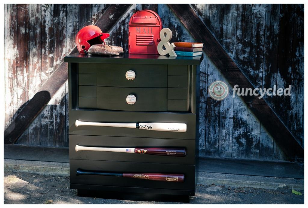 sleek diy baseball dresser