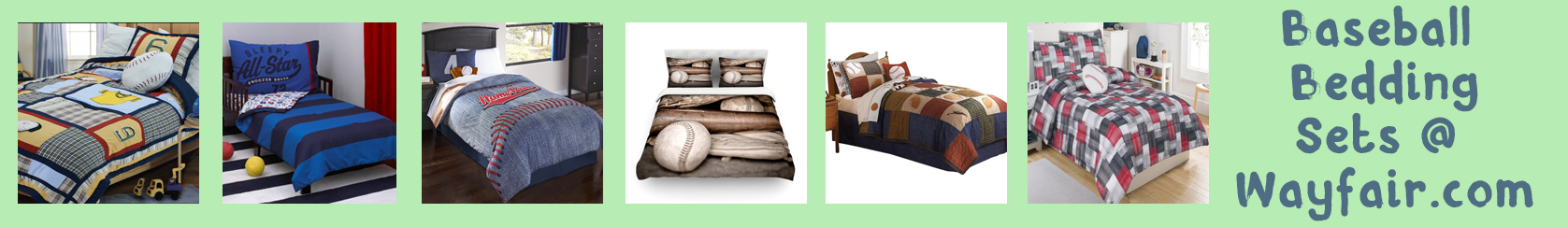 wayfair baseball bedding banner thin bright light green