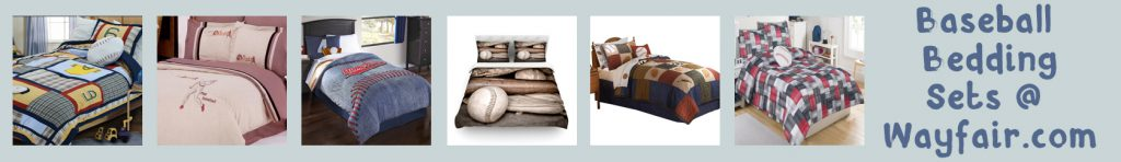wayfair baseball bedding banner thin gray green
