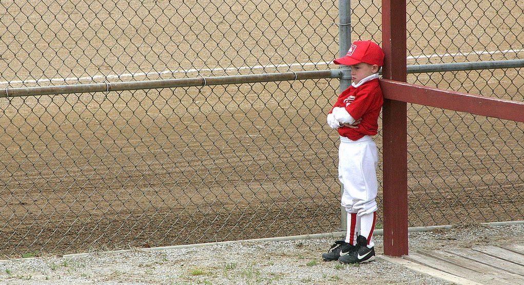 angry baseball kid