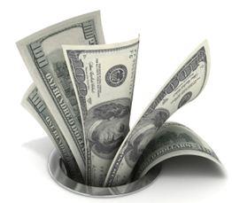 Money-going-down-the-drain