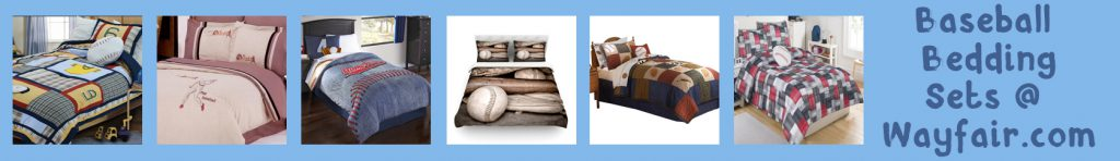 wayfair baseball bedding sets banner blue