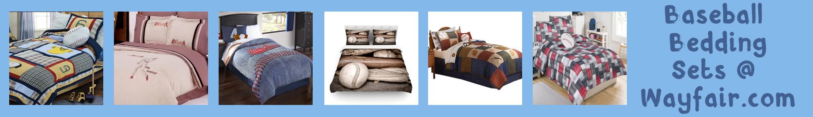 wayfair baseball bedding banner thin blue