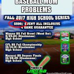 baseball mom problems tournament cost