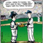 baseball think fast comic