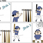 cant find a decent bat strikeout comic