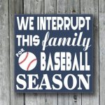 we interrupt this family for baseball season