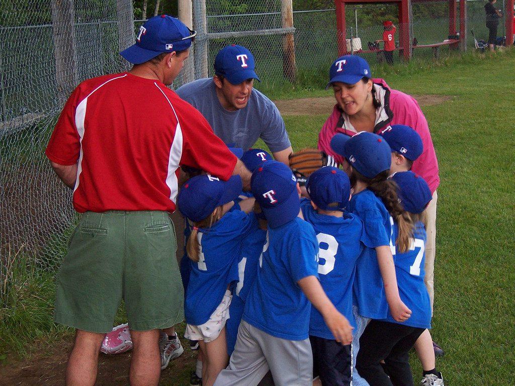 baseball team and coaches