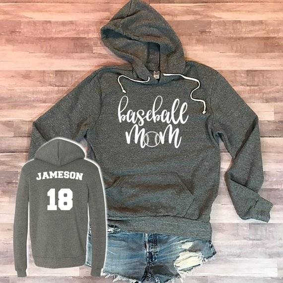 baseball mom sweatshirt and shorts