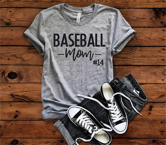 baseball mom with number