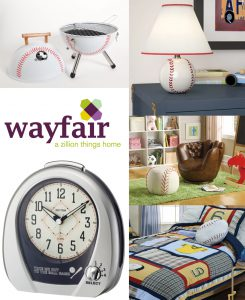 wayfair large baseball decor banner