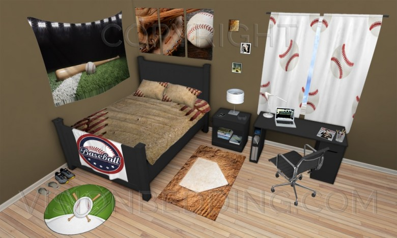 How to Create a Baseball Themed Bedroom with No Decorating Skills